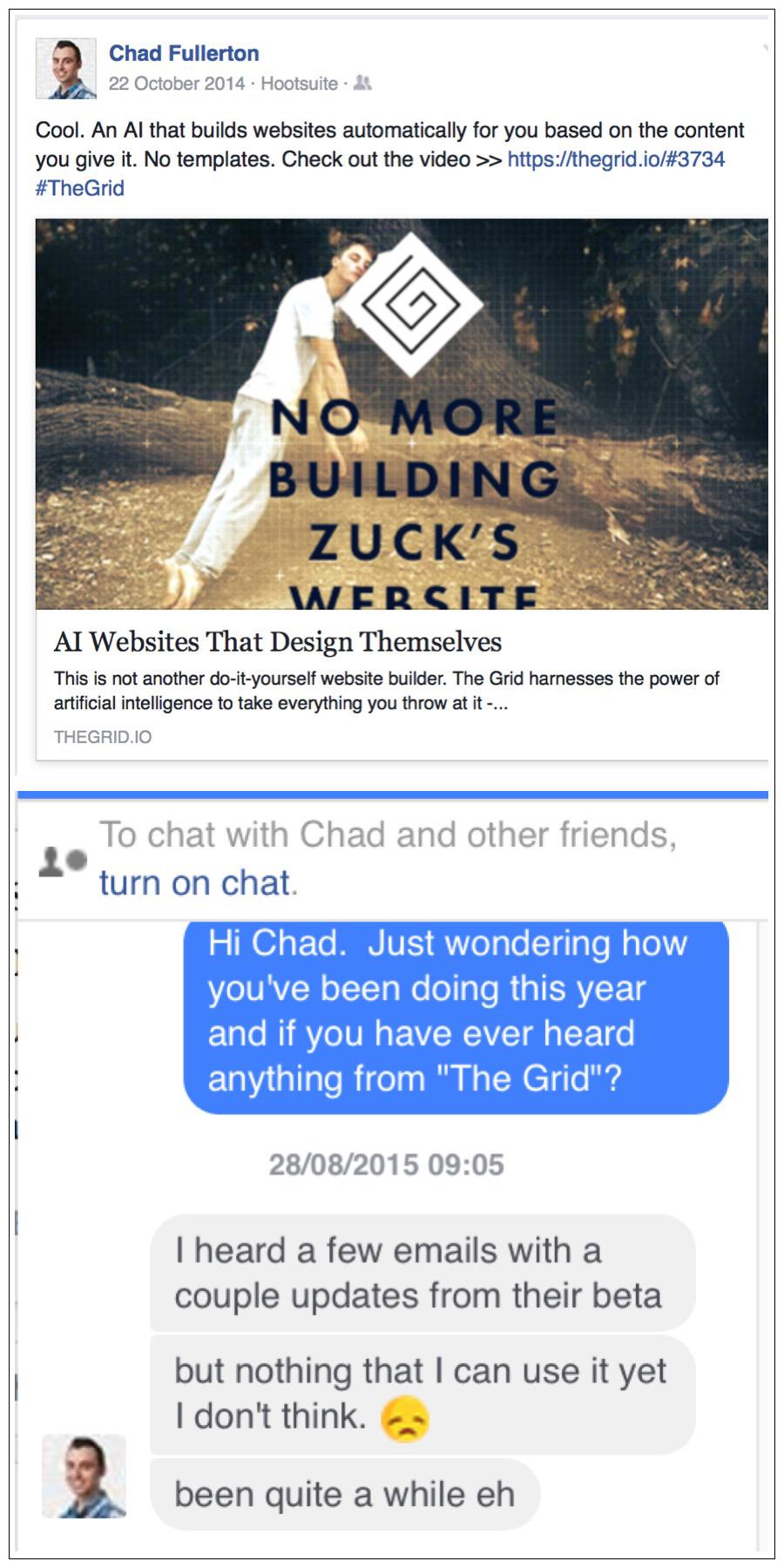 Original link on Facebook that I signed up for