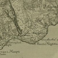 Topographical map of the Crimean Peninsula
