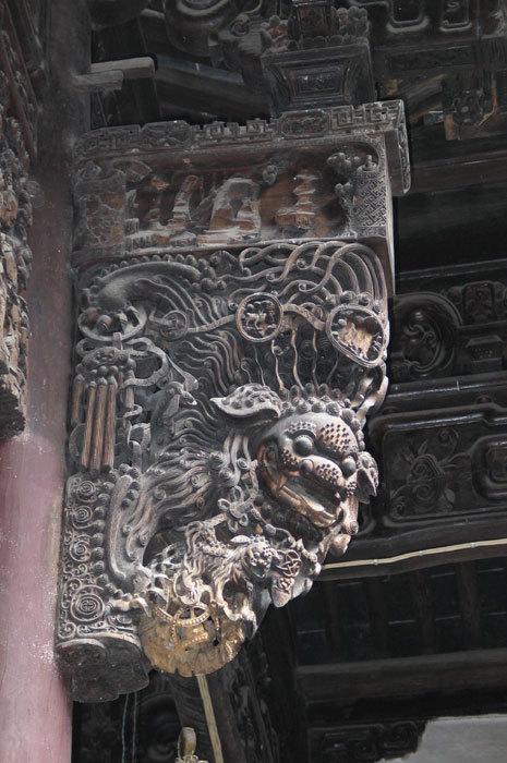 detail of interior bracket