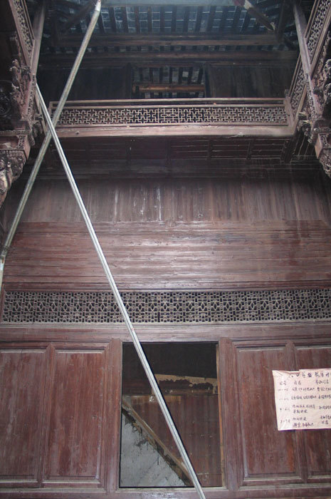 west wall of second room on 1st floor