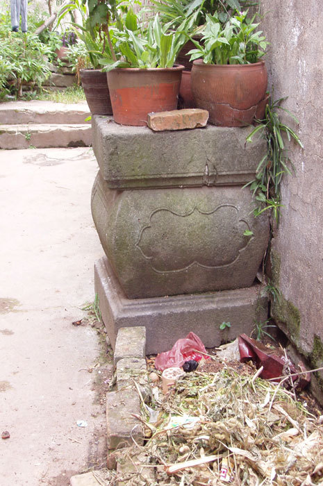 pillar base in wall of primary school 1