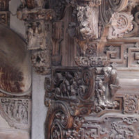 bracket carving between main hall and side wall