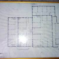 Blueprint of the hall, the first floor