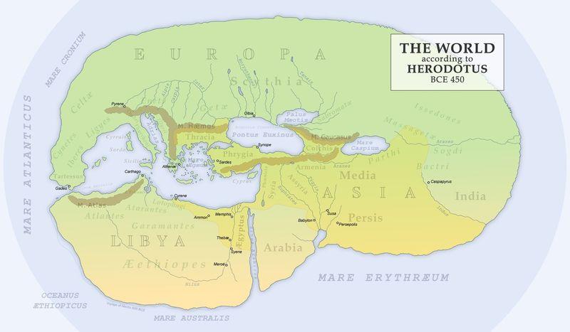 Herodotus's map of the world