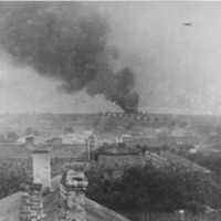 Majdanek burning from afar.png