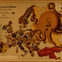 John Bull and his friends: a serio-comic map of Europe