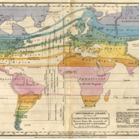 Isothermal Chart, or View of Climates & Production, Drawn from the Accounts of Humboldt & Others