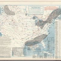 (United States) Weather Map. January 1, 1901