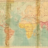 The World on Mercator's Projection Shewing the Zoogeographical Regions and the Approximate Undulations of the Ocean Bed