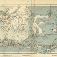Southern Part of the Malay Archipelago shewing Mr. Wallace's Routes