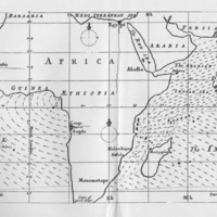 An untitled, copperplate world map (First meteorological map)