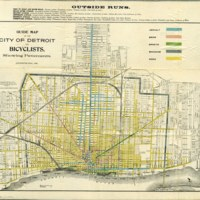 Detroit Guide Map Bicyclists