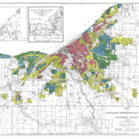 "Home Owners' Loan Corporation, Home Loan Security Map (""Redlining"" Map) of Cleveland, 1933"