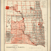 Territory Of Dakota. 1882