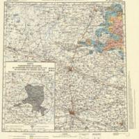Karta radiat︠s︡ionnoĭ obstanovki na territorii evropeĭskoĭ chasti SSSR po sostoi︠a︡nii︠u︡ na dekabrʹ 1990 goda : plotnostʹ zagri︠a︡znenii︠a︡ mestnosti stront︠s︡iem-90 : masshtab 1:500 000 (part III - Zhitomyr)