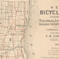 New Bicycle Map Chicago 1898