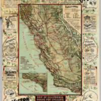 Map of California Roads for Cyclers
