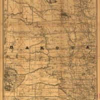 Official railroad map of Dakota issued by the railroad commissioners, November 1st, 1886.