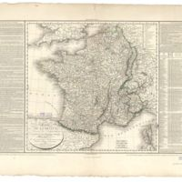 Herrison's Map of France, 1804