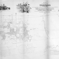 Map of the Track of the Tornado of April 30th 1852