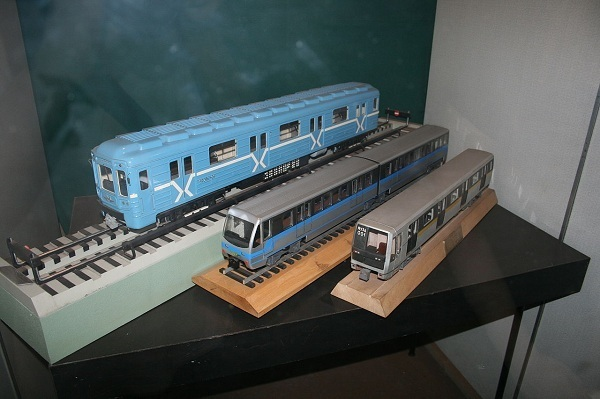 A Display of Trains in the Moscow Metro Museum