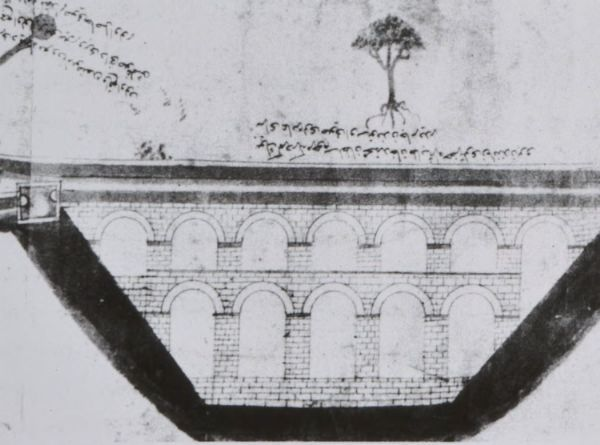 Elevation of Valens Aqueduct