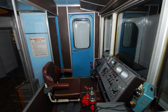 Inside of a Metro car driver's cabin