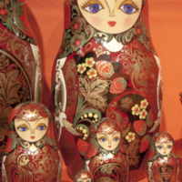 Matryoshka doll or palekh box