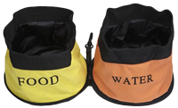 Double Travel Food & Water Dog Bowls