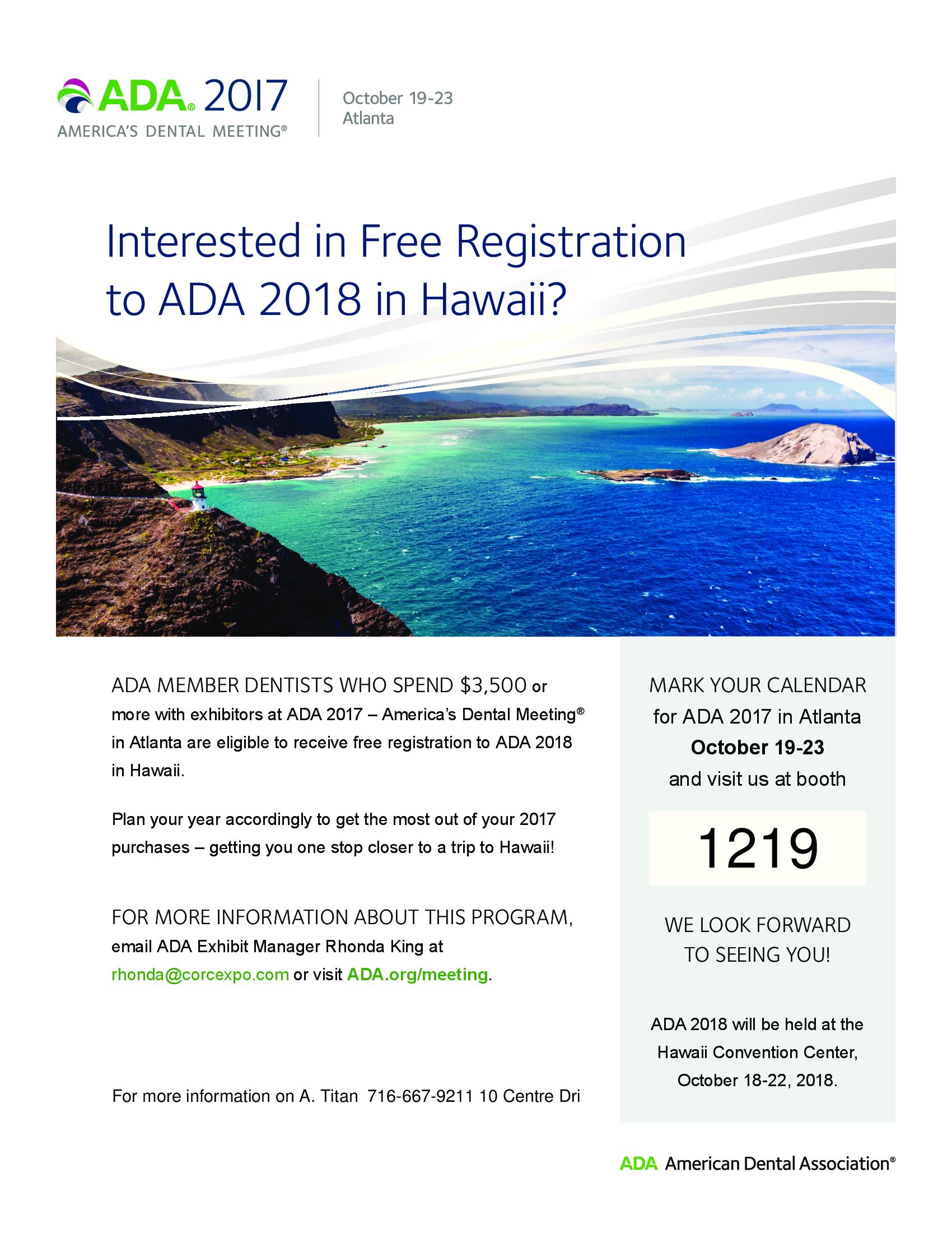 ADA Purchase Incentive Program