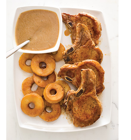 French-Style Pork Chops with Apples and Calvados
