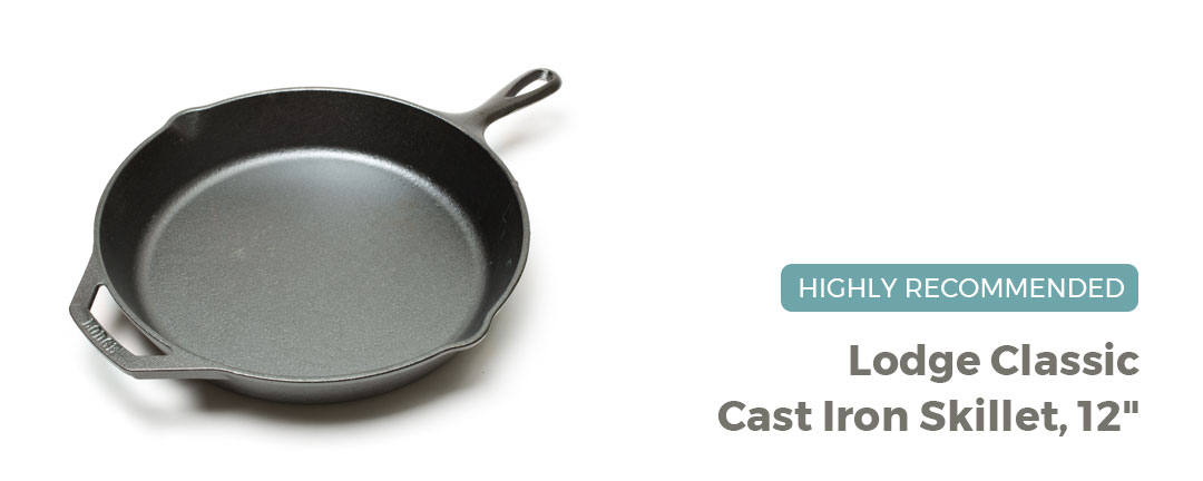 Lodge Classic Cast Iron Skillet, 12-inch