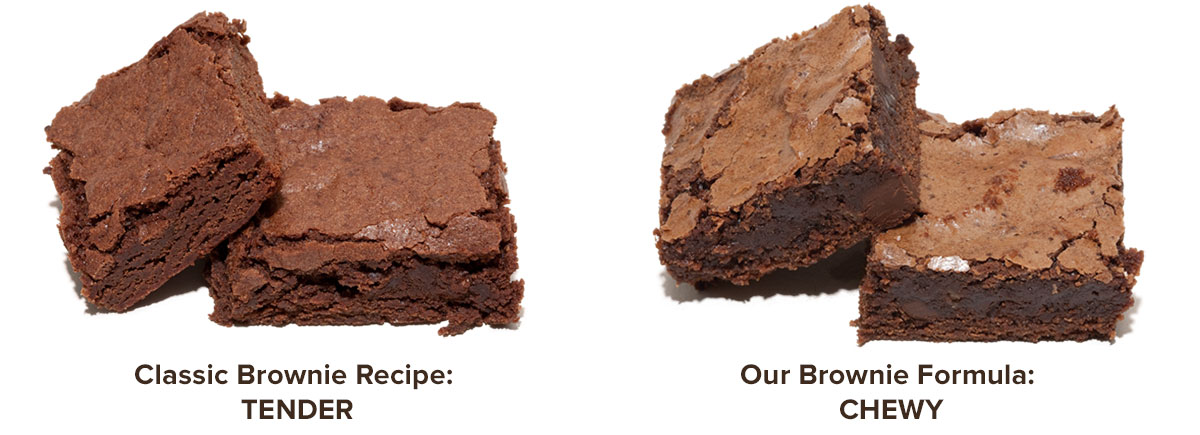Classic Brownies vs. Chewy Brownies
