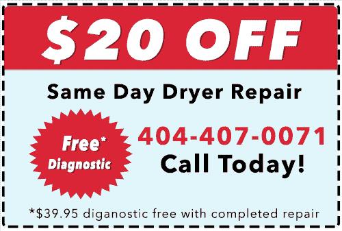 Atlanta Dryer repair Coupon