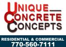 Website for Unique Concrete Concepts, Inc.