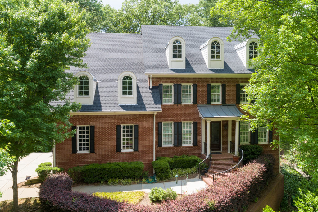 classical architecture with a private garden in buckhead atlanta