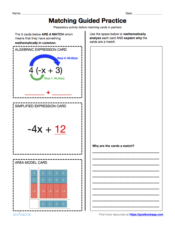 6EE4 Identify Equivalent Expressions – Equivalent Expressions Worksheet
