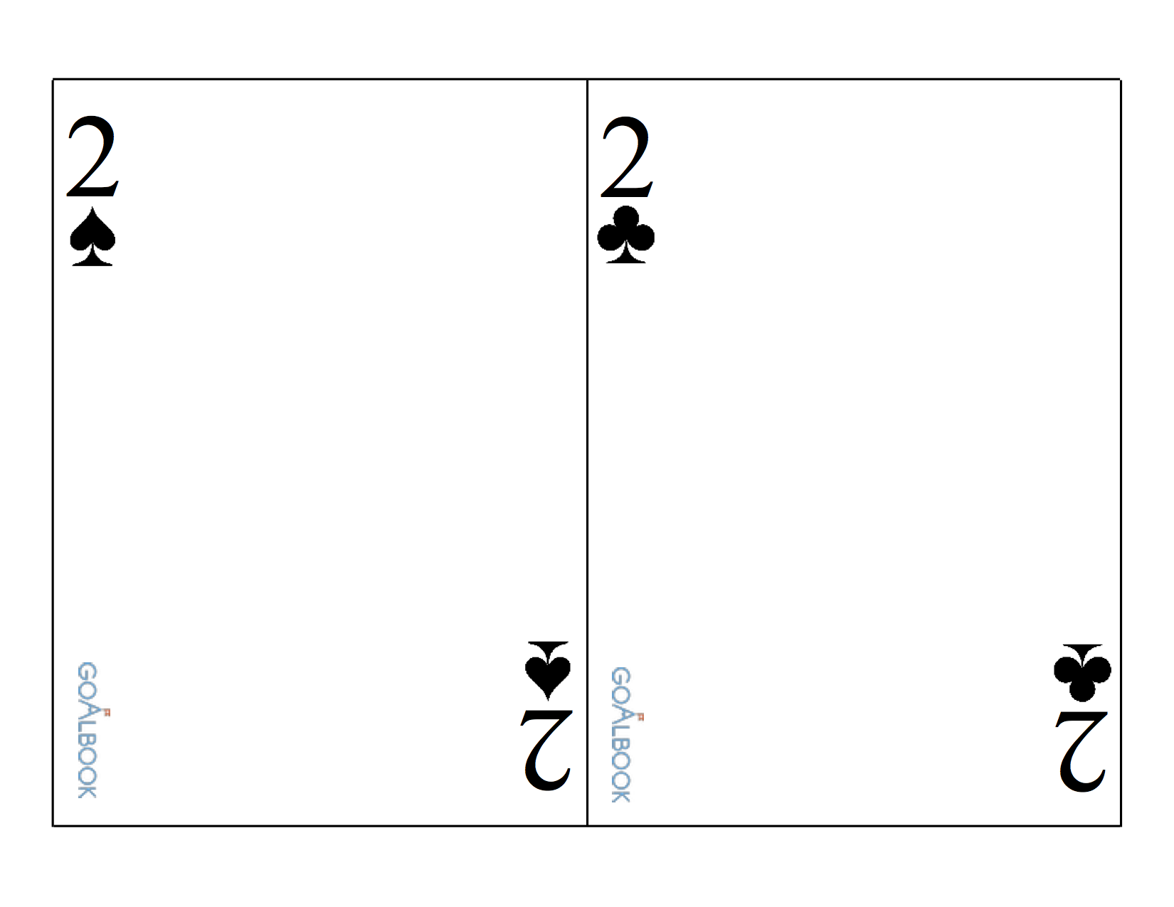 Large Playing Cards without Images