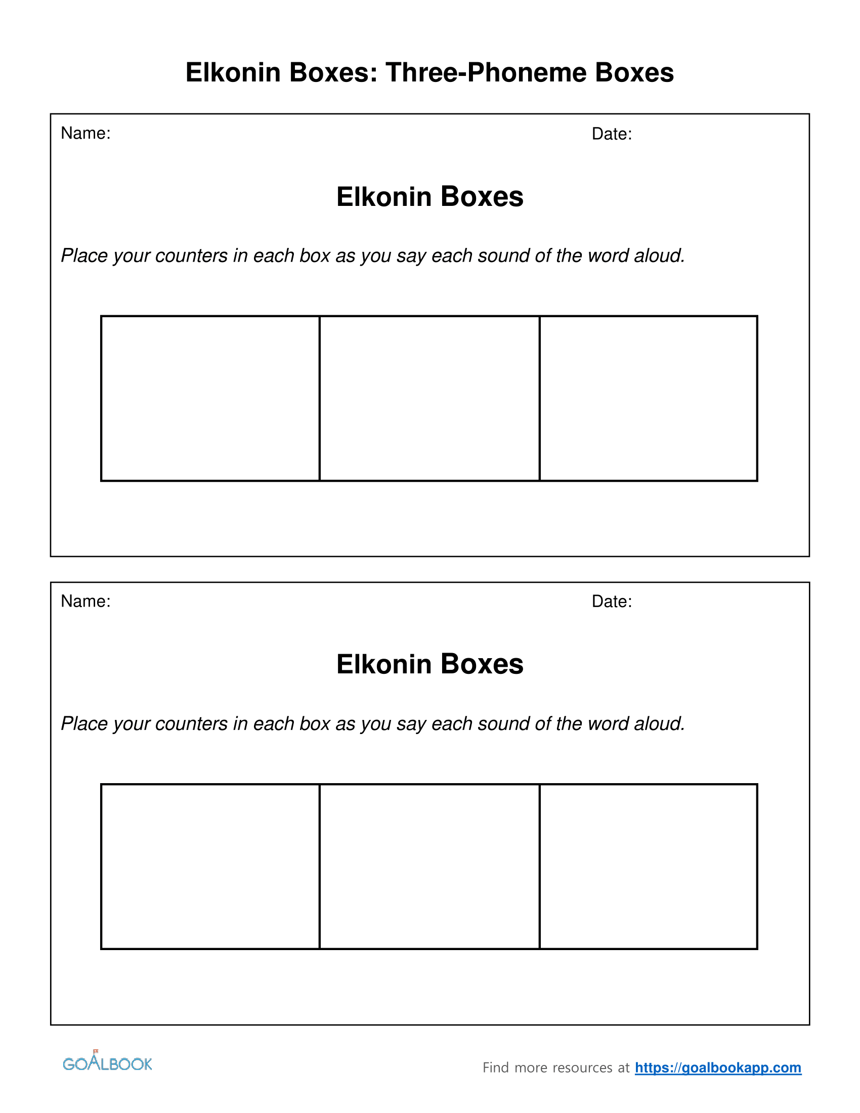 Worksheets Phoneme Worksheets elkonin boxes udl strategies three phoneme and worksheets
