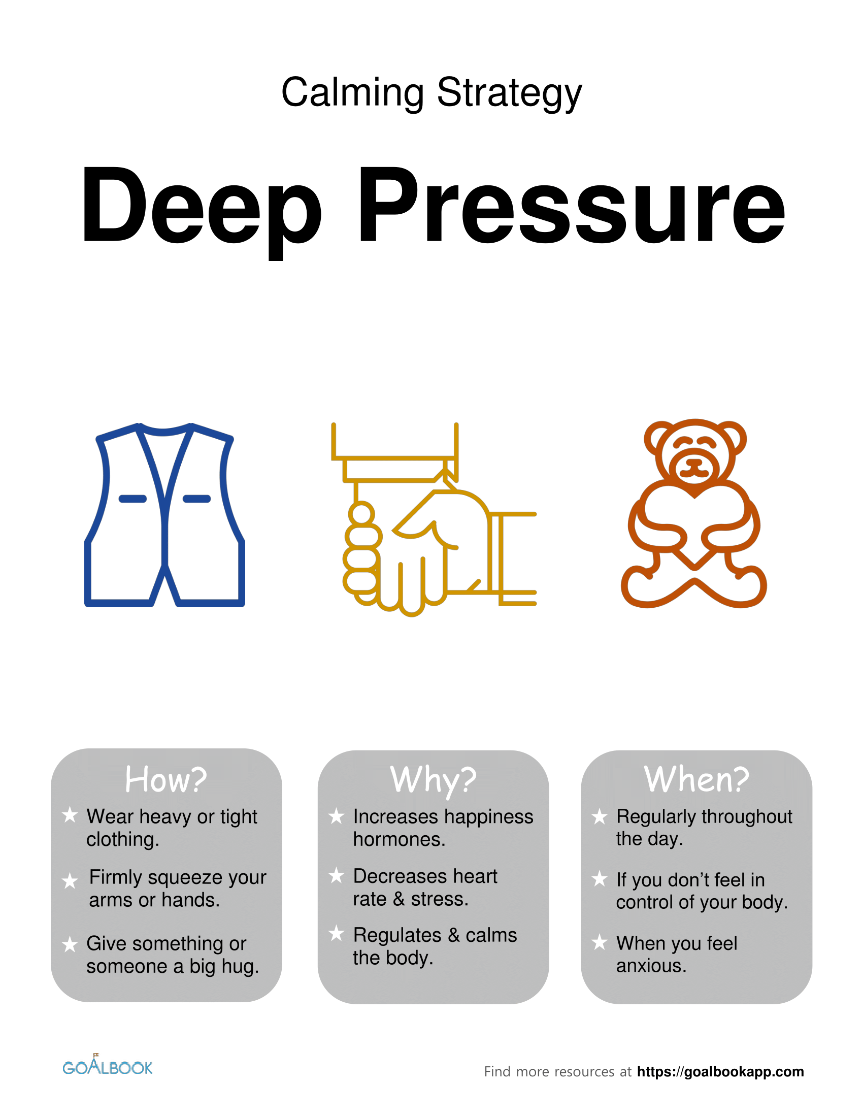 Deep Pressure: Calming Strategy