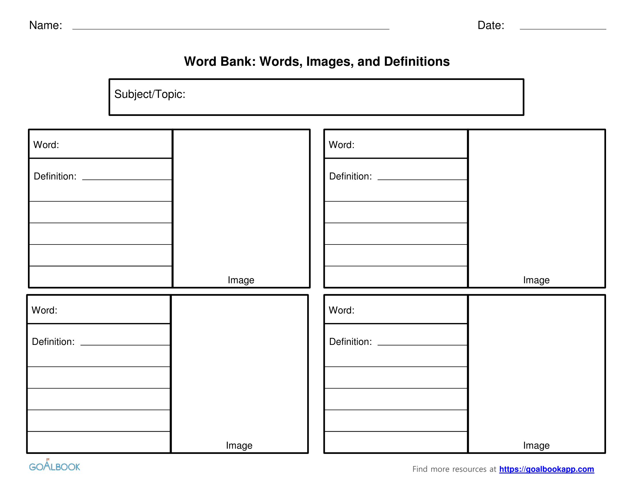 Word Bank | UDL Strategies