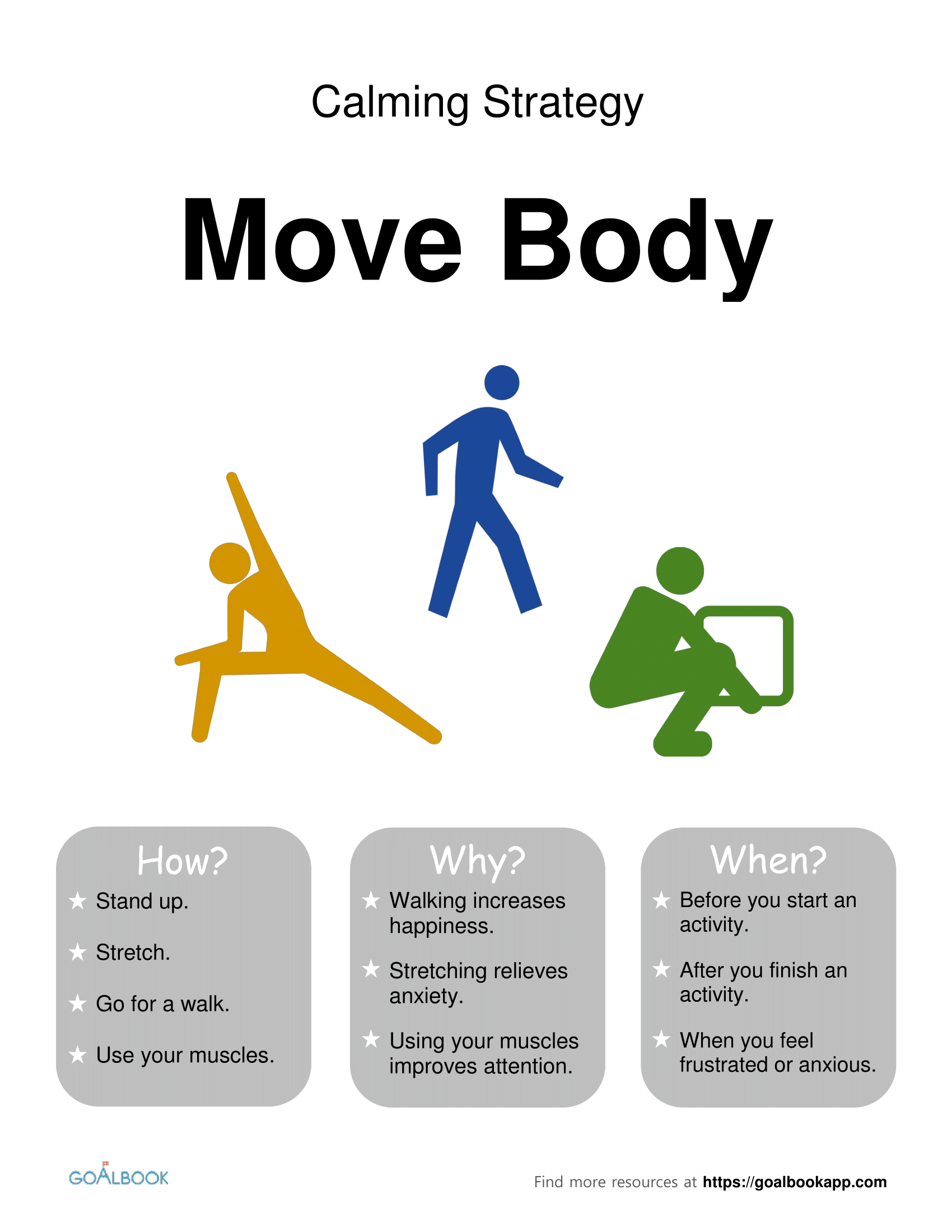 Move Your Body: Calming Strategy Poster