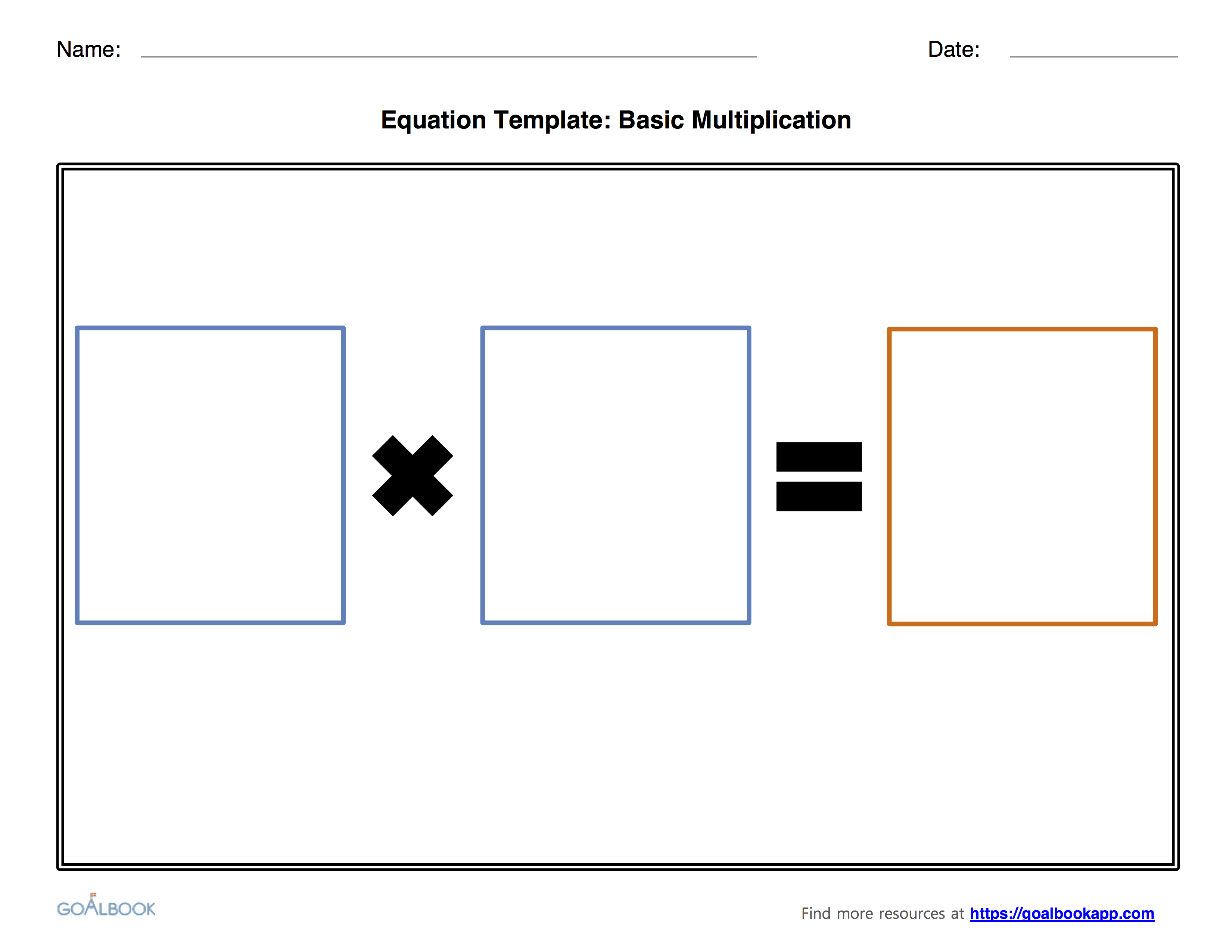 Multiplication and Division Equation Templates