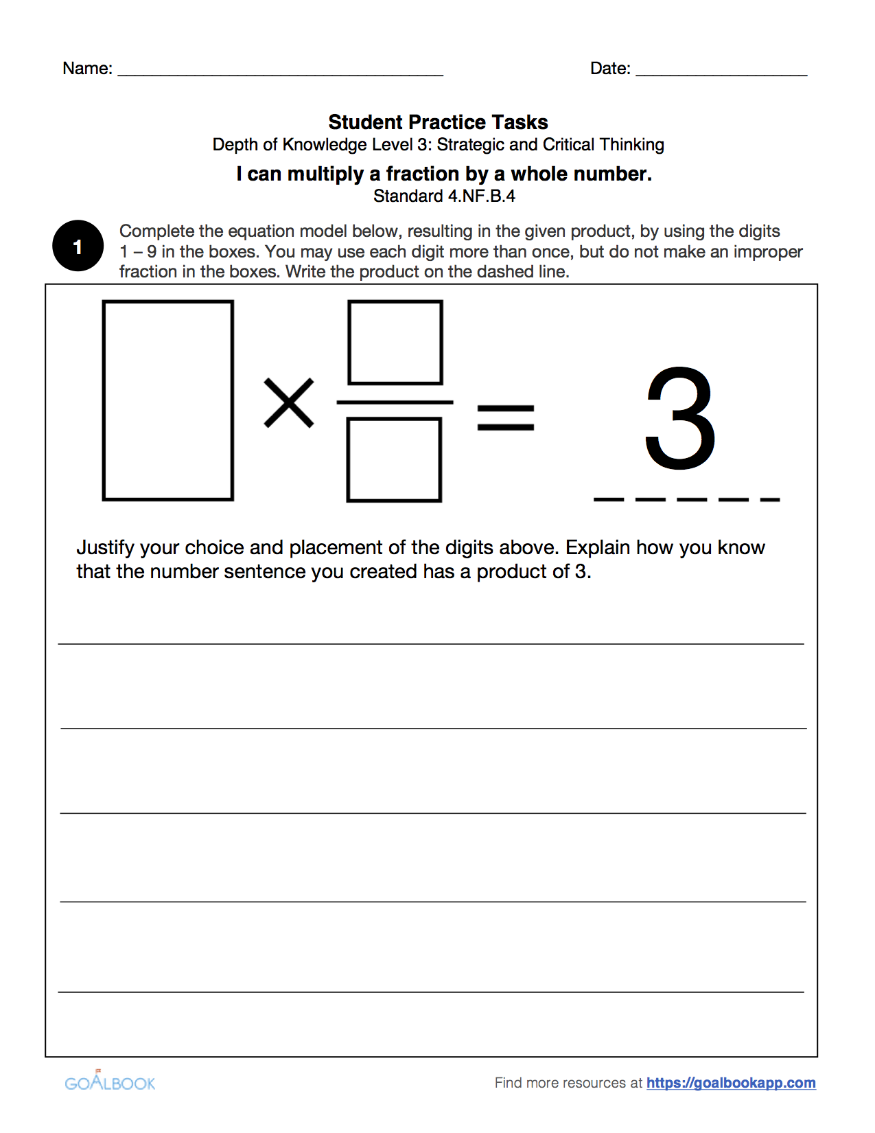 worksheet Multiply Fractions By Whole Numbers Worksheet 4 nf multiply a fraction by whole number math operations fractions 4th grade goalbook pathways
