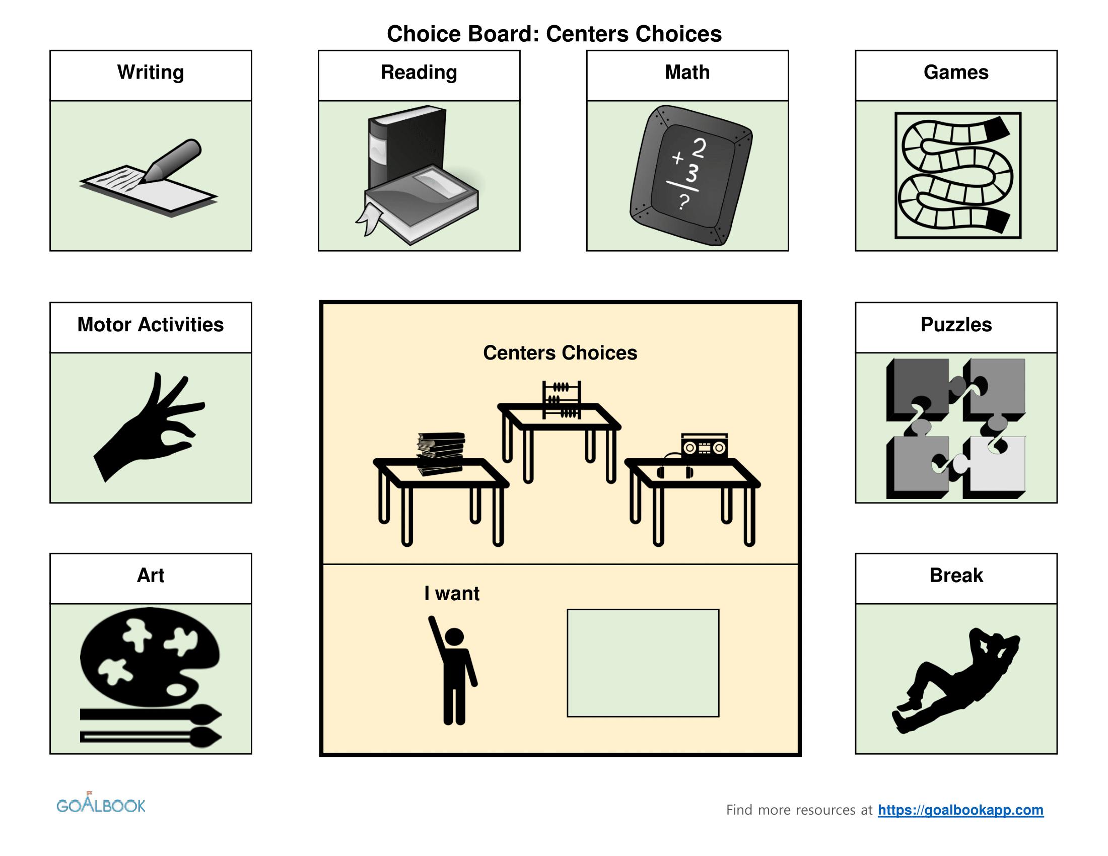 Classroom Choice Boards