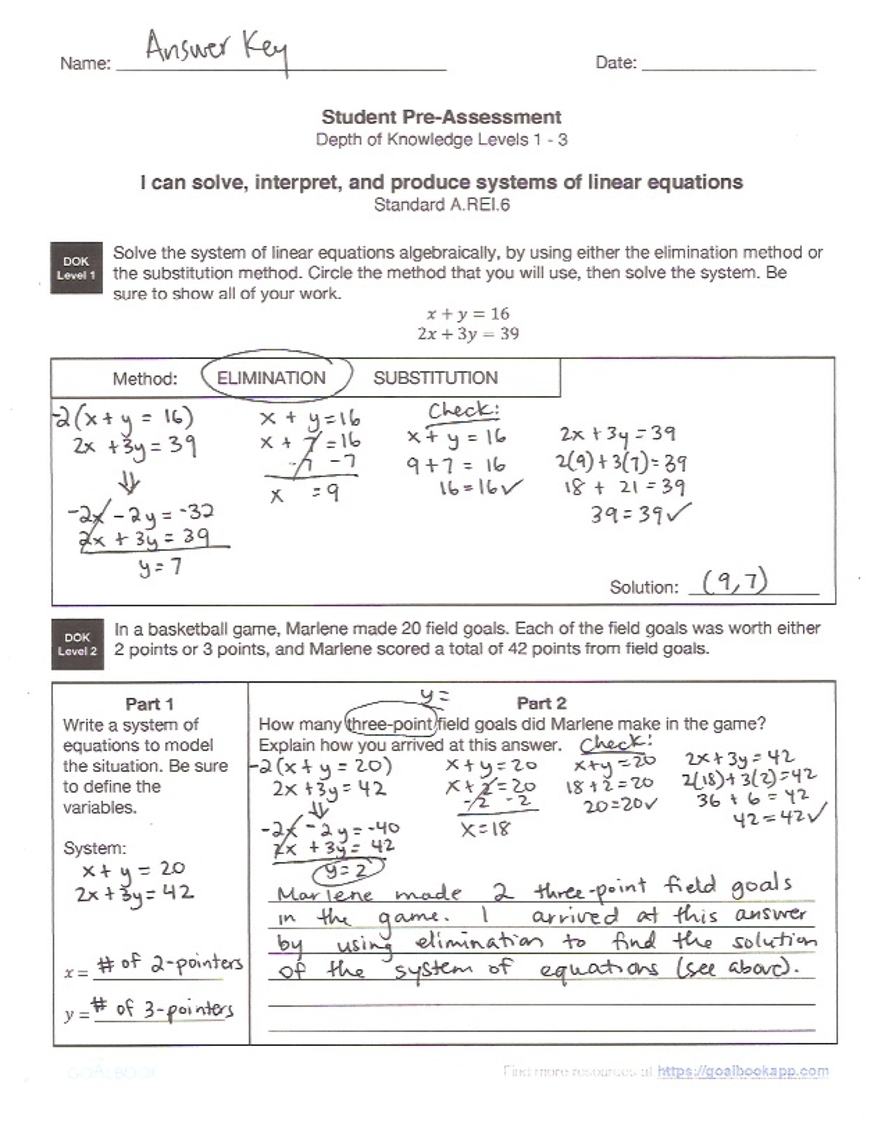 Full Resource Contains Hsarei6 Systems Of Linear Equations Math, High  School: Algebra How To Write