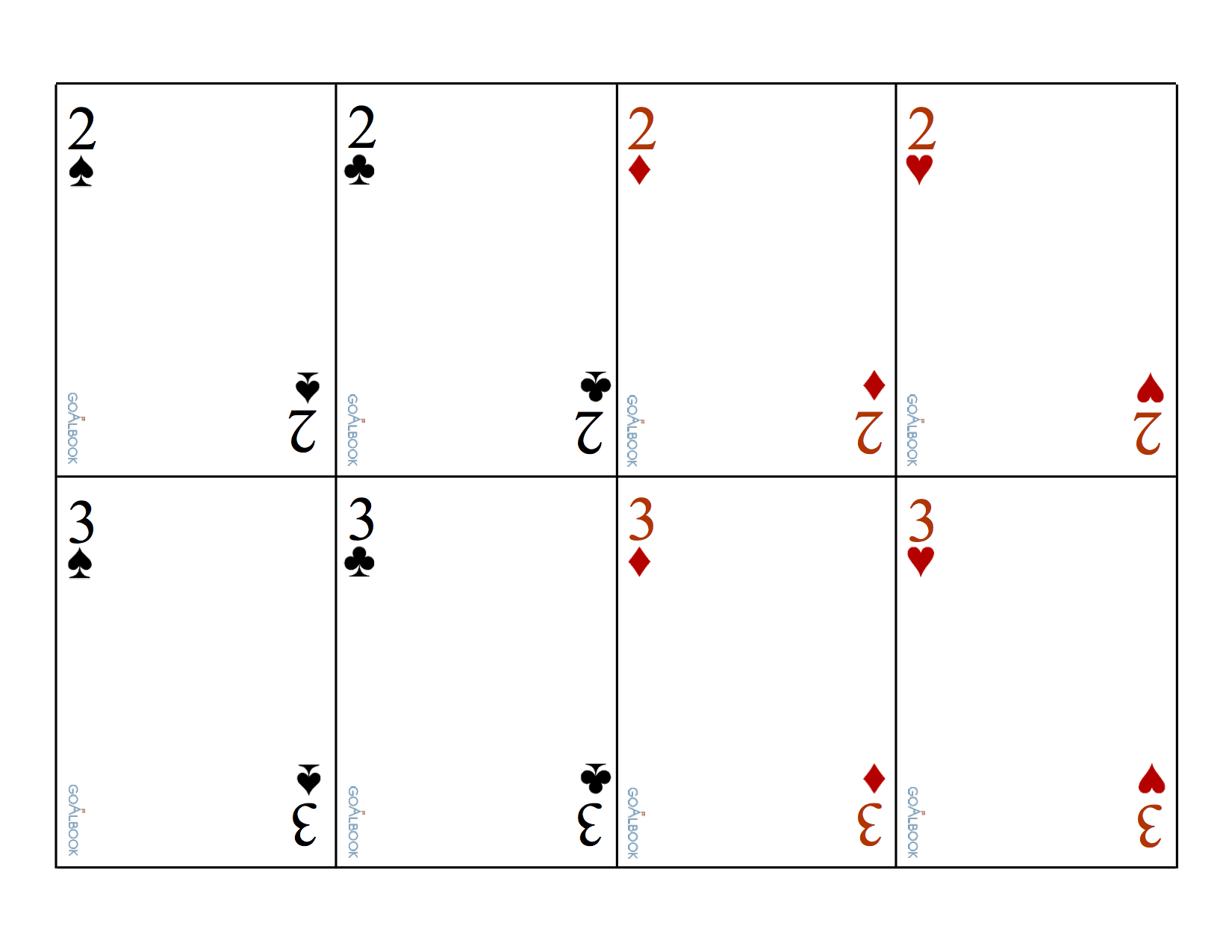Traditional Playing Cards without Images