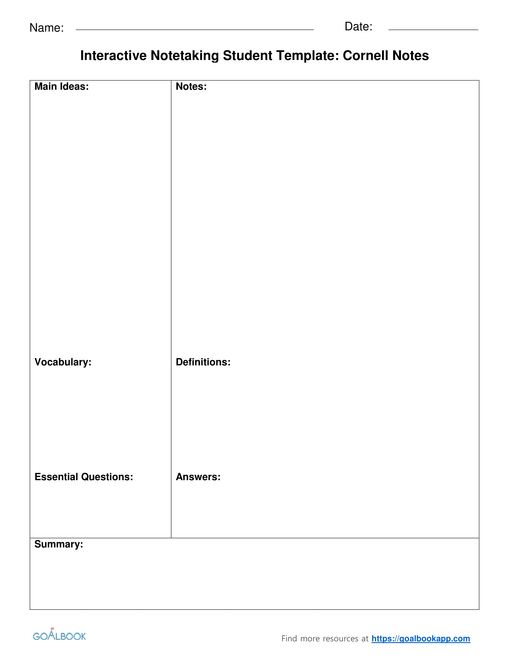 Interactive Notetaking | UDL Strategies