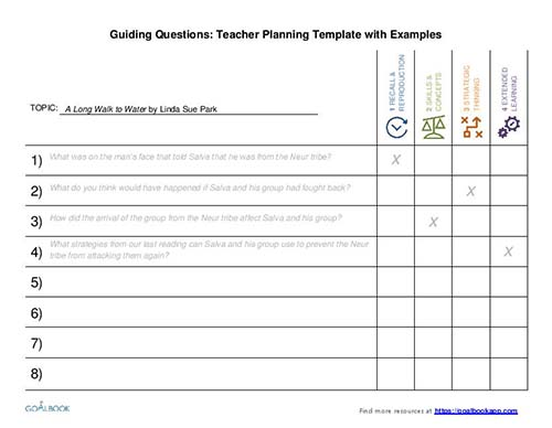 Guiding Questions Planning Template
