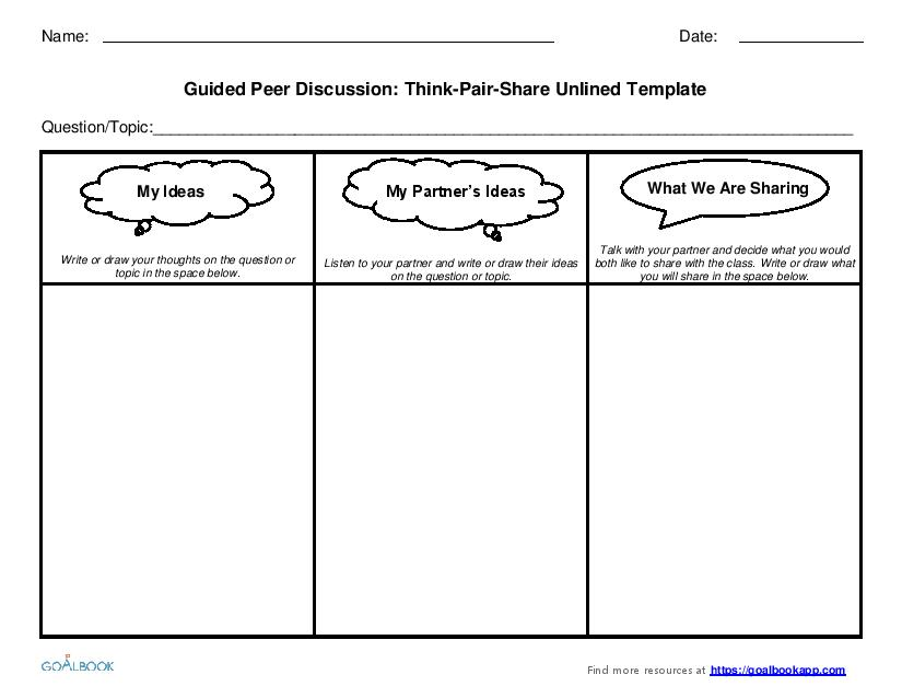 Amazing Think Pair Share Template Embellishment - Resume Ideas ...